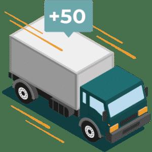 illustration d'un camion utilisant la traçabilité logistique
