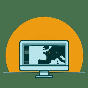 illustration orinateur plateforme magma traçabilité logitique